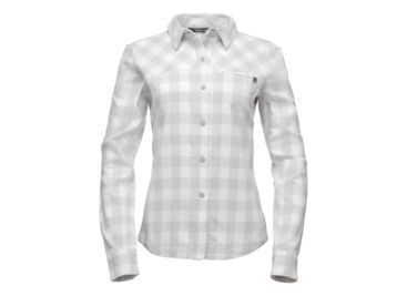06239637 ... Black Diamond Spotter Long Sleeve Button Up - Womens, Aluminum/Ice  Plaid, Extra