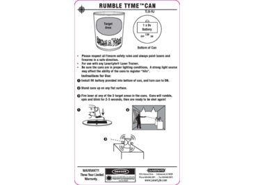 LaserLyte Trainer Target Rumble Tyme Kit