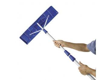 Snow Joe Roofer Joe 21 Foot Twist N Lock Telescoping Snow Shovel Roof Rake,  Blue RJ204M